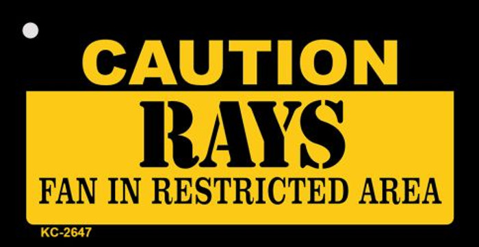 Caution Rays Fan Area Novelty Metal Key Chain KC-2647