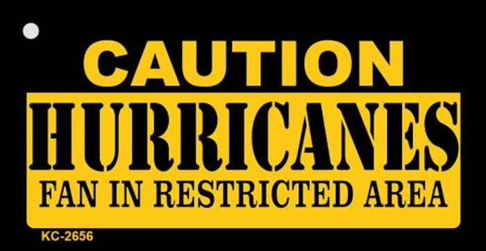 Caution Hurricanes Fan Area Novelty Metal Key Chain KC-2656