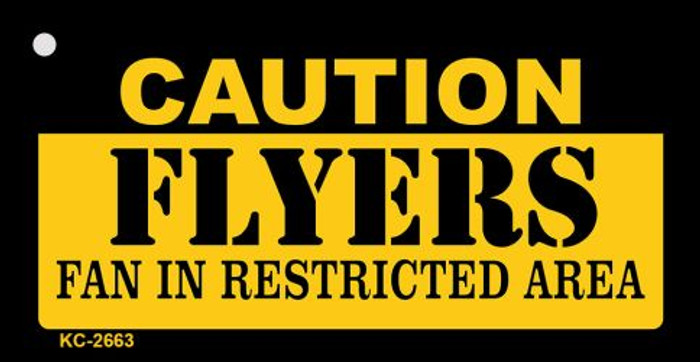 Caution Flyers Fan Area Novelty Metal Key Chain KC-2663
