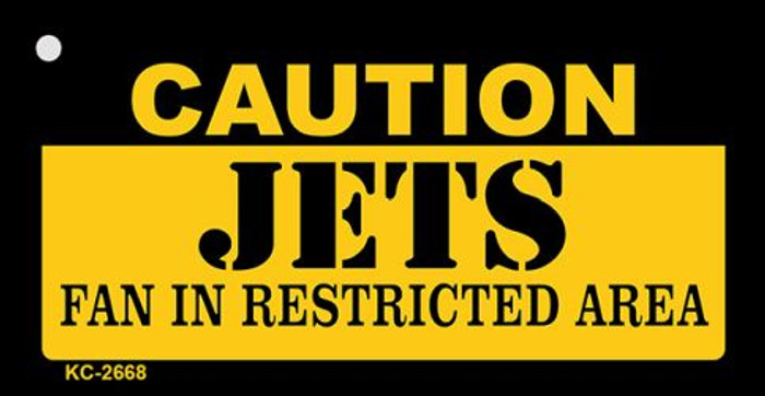 Caution Jets Fan Area Novelty Metal Key Chain KC-2668
