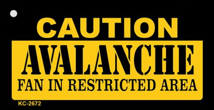 Caution Avalanche Fan Area Novelty Metal Key Chain KC-2672