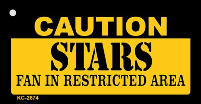 Caution Stars Fan Area Novelty Metal Key Chain KC-2674