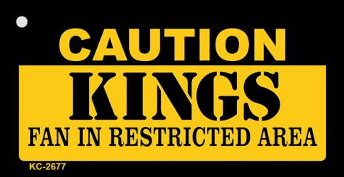 Caution Kings Fan Area Novelty Metal Key Chain KC-2677