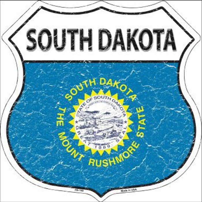 South Dakota State Flag Highway Shield Metal Sign