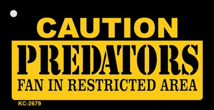 Caution Predators Fan Area Novelty Metal Key Chain KC-2679