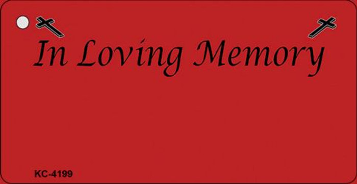 In Loving Memory Red Novelty Metal Key Chain KC-4199