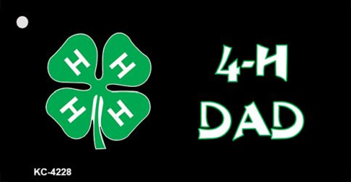 4-H Dad Novelty Metal Key Chain KC-4228