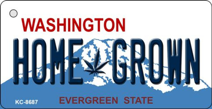Home Grown Washington State License Plate Novelty Metal Key Chain KC-8687