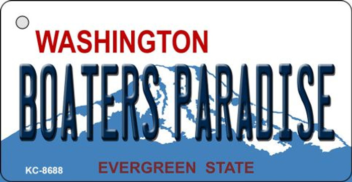 Boaters Paradise Washington State License Plate Novelty Metal Key Chain KC-8688