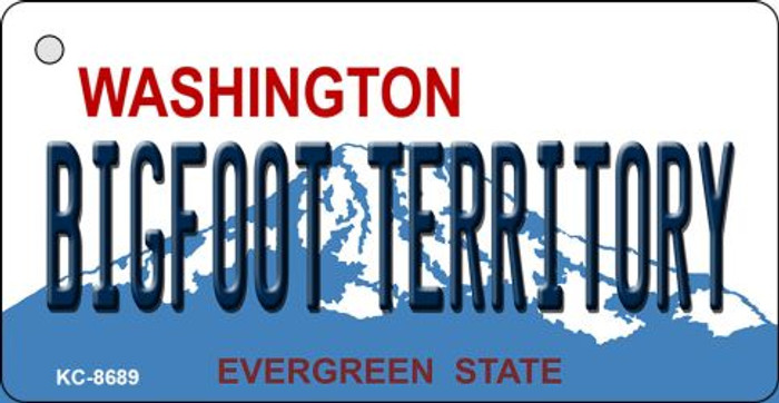 Bigfoot Territory Washington State License Plate Novelty Metal Key Chain KC-8689