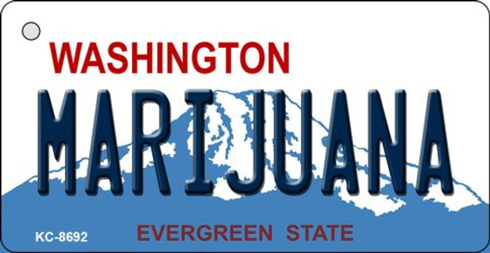 Marijuana Washington State License Plate Novelty Metal Key Chain KC-8692