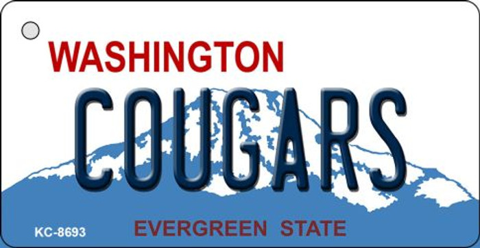 Cougars Washington State License Plate Novelty Metal Key Chain KC-8693