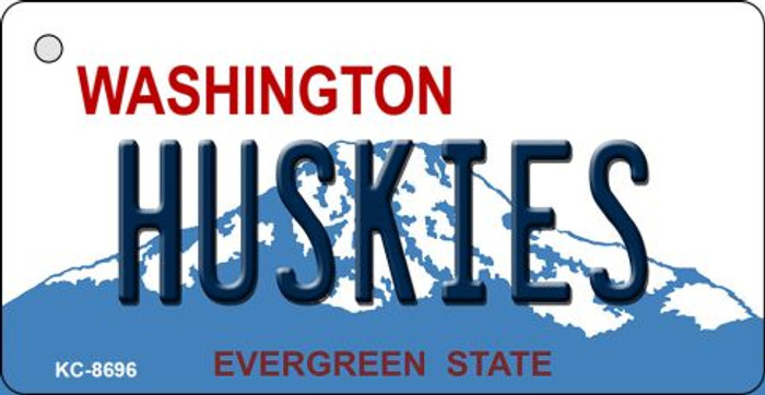 Huskies Washington State License Plate Novelty Metal Key Chain KC-8696