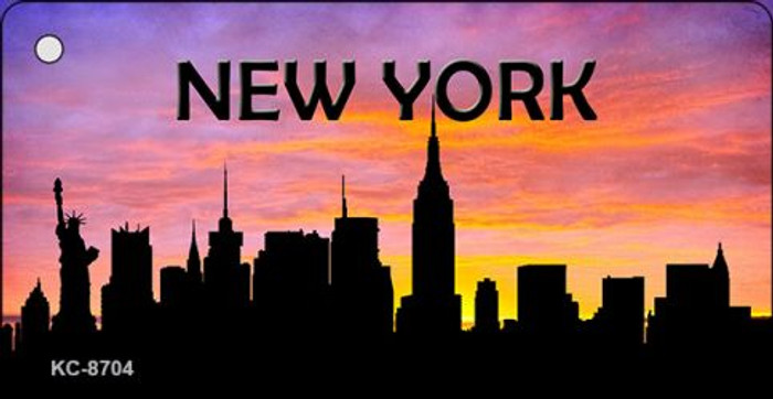 New York Silhouette Novelty Metal Key Chain KC-8704