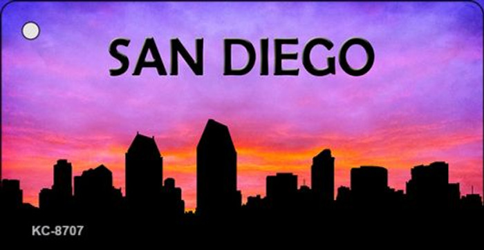 San Diego Silhouette Novelty Metal Key Chain KC-8707