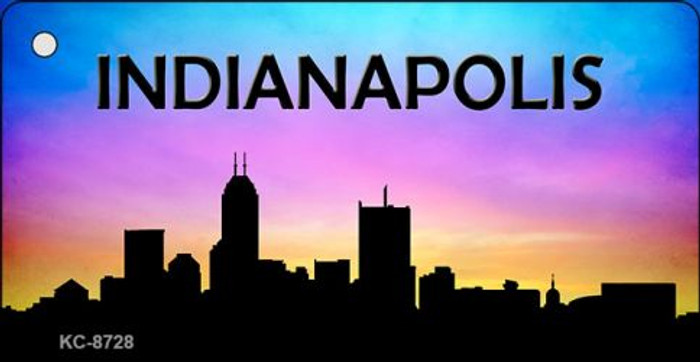 Indianapolis Silhouette Novelty Metal Key Chain KC-8728