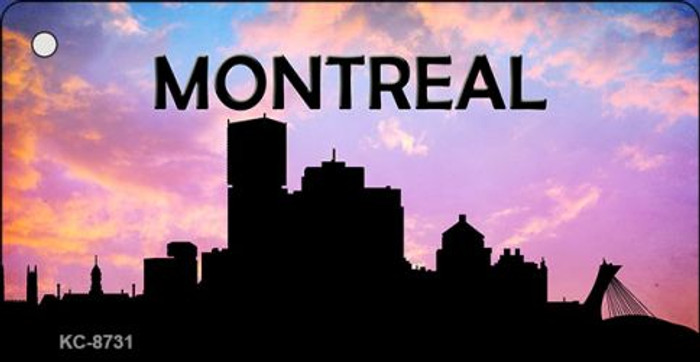 Montreal Silhouette Novelty Metal Key Chain KC-8731