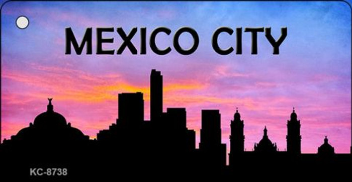 Mexico City Silhouette Novelty Metal Key Chain KC-8738