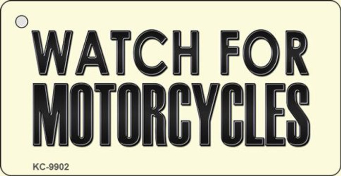 Watch For Motorcycle Novelty Metal Key Chain KC-9902