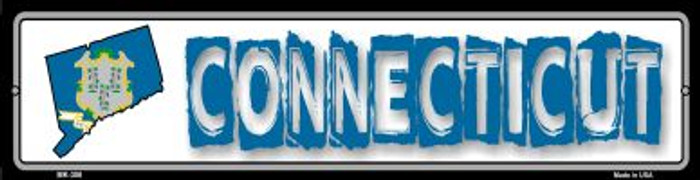 Connecticut State Outline Novelty Mini Metal Street Sign MK-306