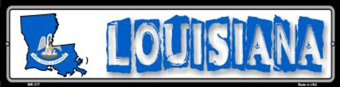 Louisiana State Outline Novelty Mini Metal Street Sign MK-317