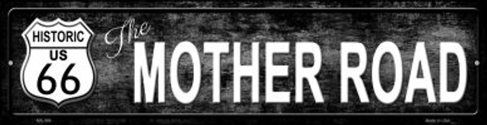 Route 66 Mother Road Black Novelty Mini Metal Street Sign MK-398