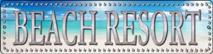 Beach Resort Novelty Mini Metal Street Sign MK-507