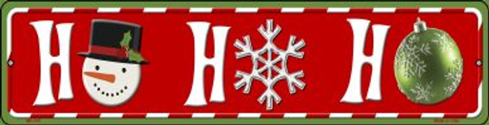 Ho Ho Ho Novelty Mini Metal Street Sign MK-515