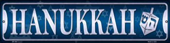 Hanukkah Novelty Mini Metal Street Sign MK-584