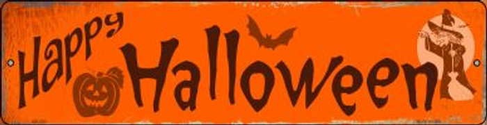 Happy Halloween Novelty Mini Metal Street Sign MK-593