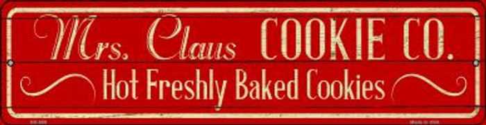 Mrs Claus Cookie Co Novelty Mini Metal Street Sign MK-650