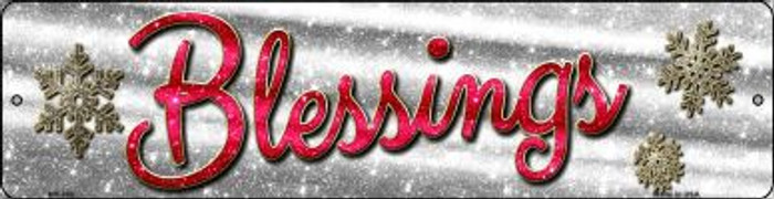 Blessings With Snowflakes Novelty Mini Metal Street Sign MK-655
