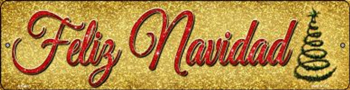 Feliz Navidad Novelty Mini Metal Street Sign MK-660