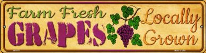 Farm Fresh Grapes Novelty Mini Metal Street Sign MK-675