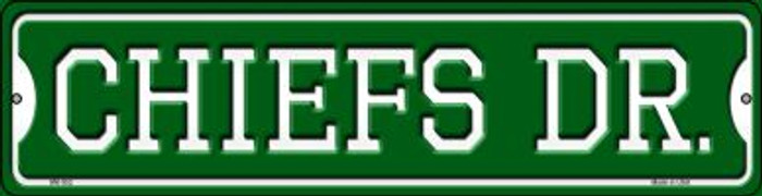 Chiefs Dr Novelty Mini Metal Street Sign MK-952