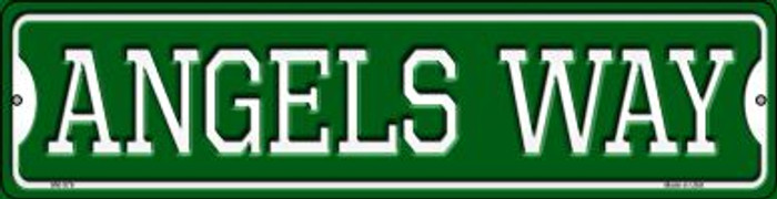 Angels Way Novelty Mini Metal Street Sign MK-976