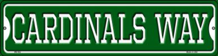 Cardinals Way Novelty Mini Metal Street Sign MK-982