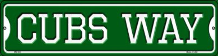 Cubs Way Novelty Mini Metal Street Sign MK-983