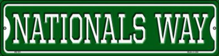 Nationals Way Novelty Mini Metal Street Sign MK-991