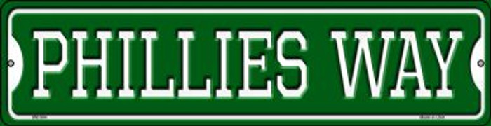 Phillies Way Novelty Mini Metal Street Sign MK-994