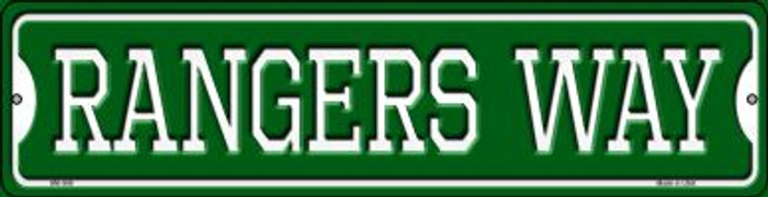 Rangers Way Novelty Mini Metal Street Sign MK-996