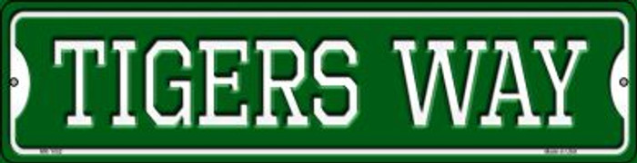 Tigers Way Novelty Mini Metal Street Sign MK-1002
