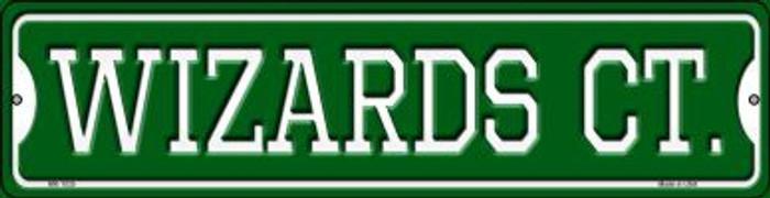 Wizards Ct Novelty Mini Metal Street Sign MK-1035