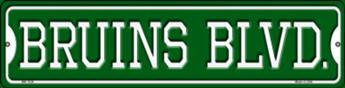 Bruins Blvd Novelty Mini Metal Street Sign MK-1036