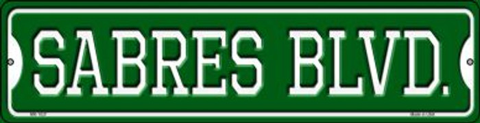 Sabres Blvd Novelty Mini Metal Street Sign MK-1037