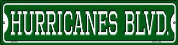 Hurricanes Blvd Novelty Mini Metal Street Sign MK-1038