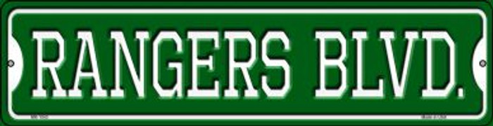 Rangers Blvd Novelty Mini Metal Street Sign MK-1043