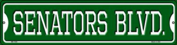 Senators Blvd Novelty Mini Metal Street Sign MK-1044