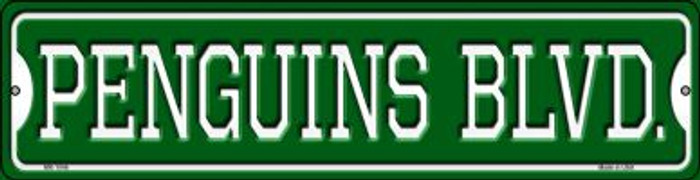Penguins Blvd Novelty Mini Metal Street Sign MK-1046