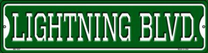 Lightning Blvd Novelty Mini Metal Street Sign MK-1047